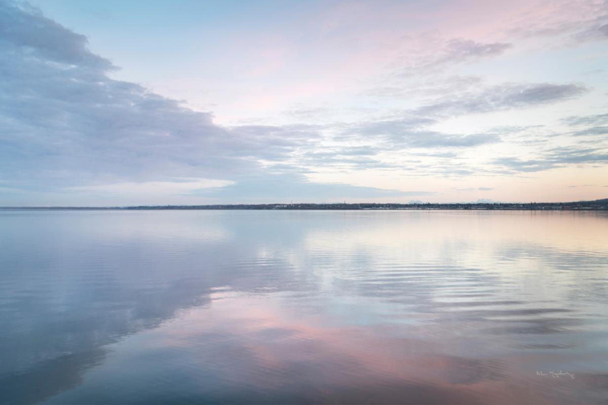 Bellingham Bay Clouds Reflection II