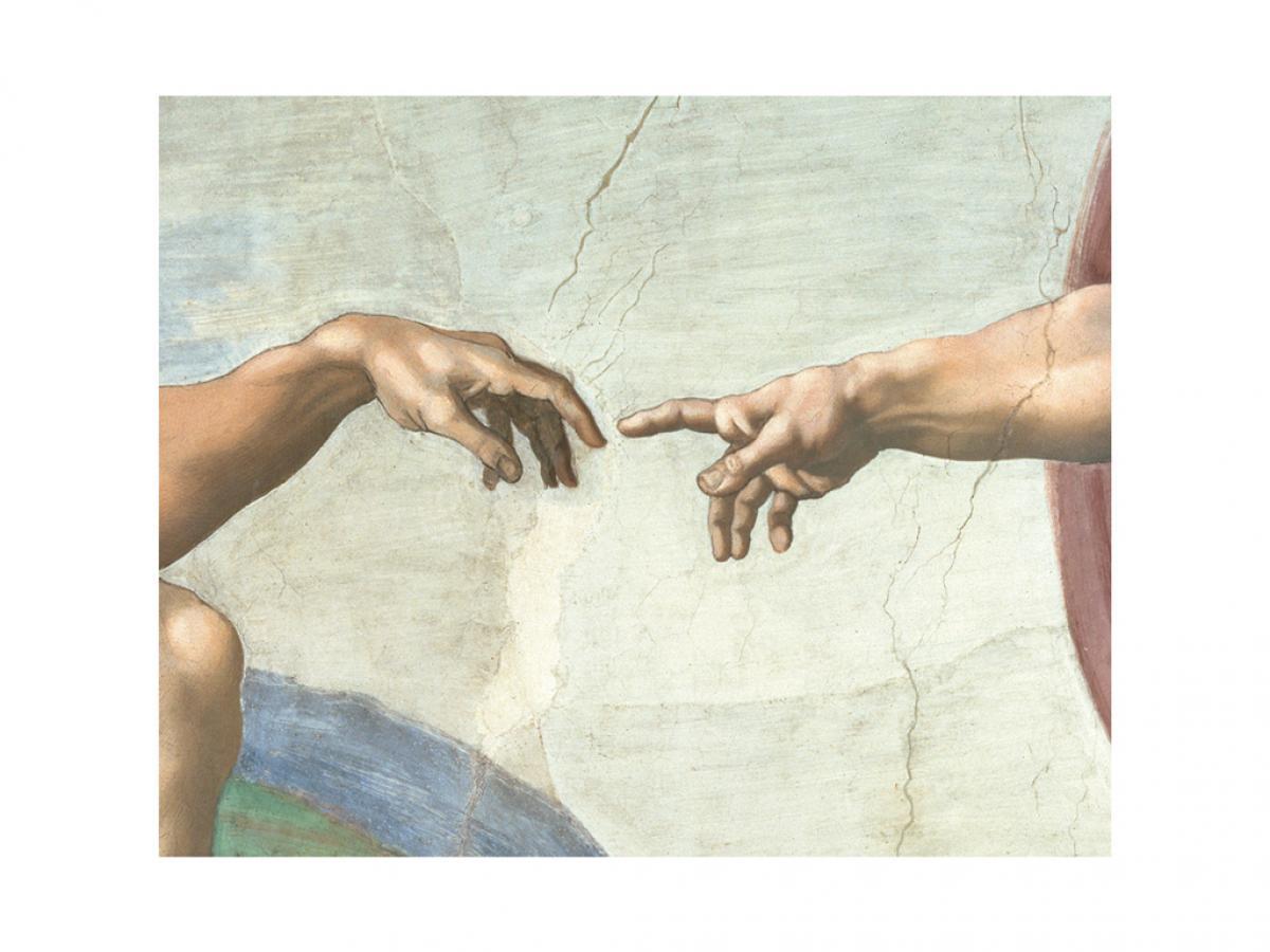 Die Erschaffung des Adams (Detail)