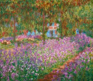 Irisbeet in Monets Garten