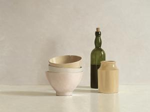 Stacked Bowls, Bottle and little Jar