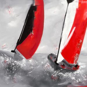 Deux voiles rouges