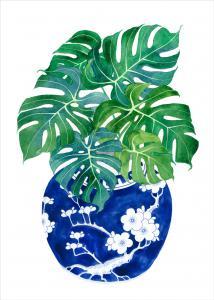 Blue Porcelain Tropical 1