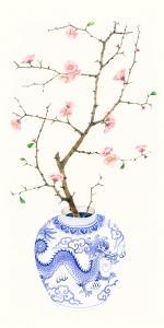 Blue Porcelain Cherry Blossom