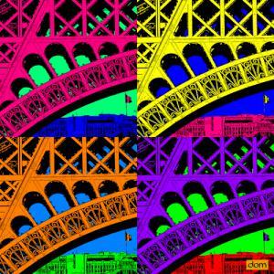 Tour Eiffel Details Multicolor