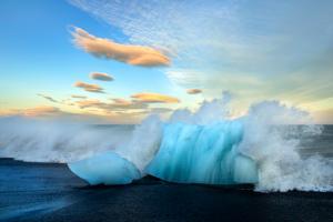 Gletschereis Südküste
