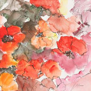 Floraison rouge