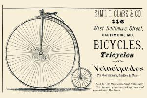 Bicycles, Tricycles and Velocipedes