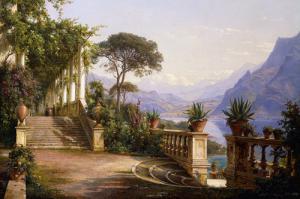 Loggia mit Blick über den Comer See