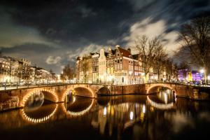 Amsterdam Illuminated Bridge