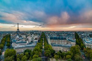 Vue sur Paris depuis l´Arc de Triomphe