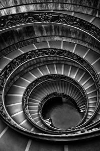 Roman Staircase black & white