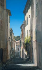 Rue du village de Biot
