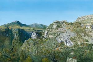Vue panoramique du village de Gourdon