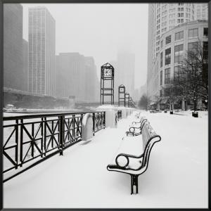 Chicago River Promenade in Winter