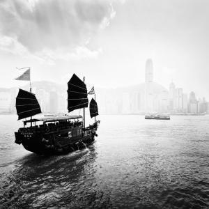 Boat in the Hong Kong Harbor