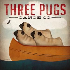Three Pugs in a Canoe v.3