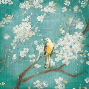 Cherry Blossoms I on Blue