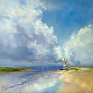 Sailboat on a Sandy Beach