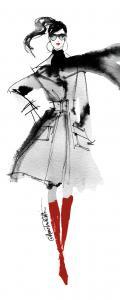 Modern Fashion I Red Crop