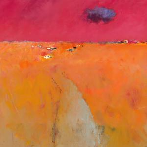 Landscape in orange and red
