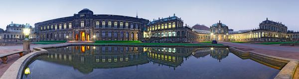 Zwinger Dresden Abendstimmung