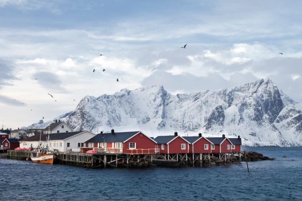 Fischerhütten Lofoten Nähe Reine