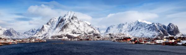 Lofoten Reine Panorama Detail