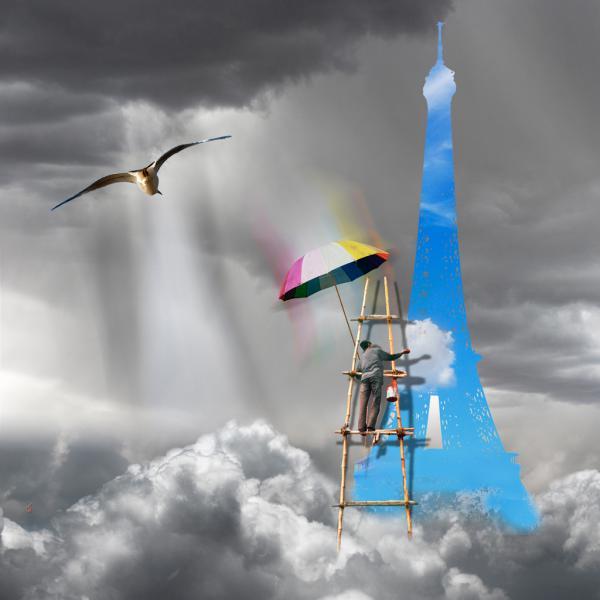 Le peintre de nuages: La Tour Eiffel