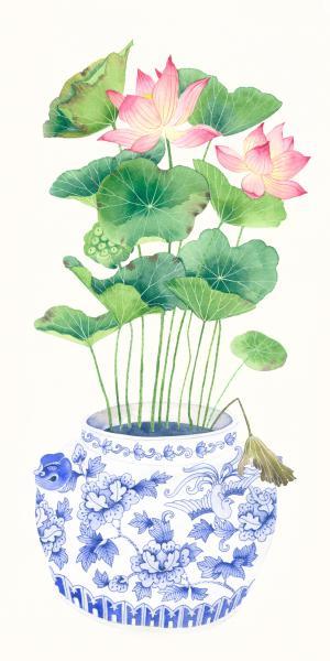Blue Porcelain Lotus