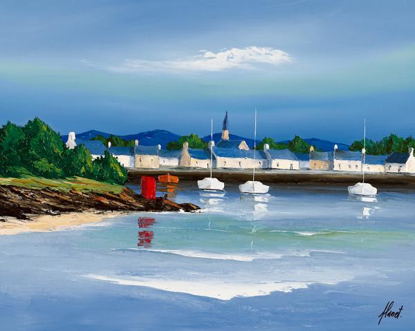 Port breton - Barques rouges