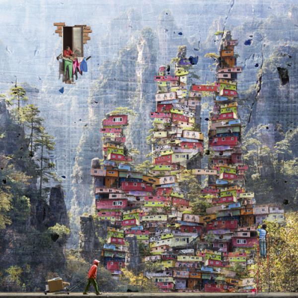 Peintre des montagnes d`Avatar