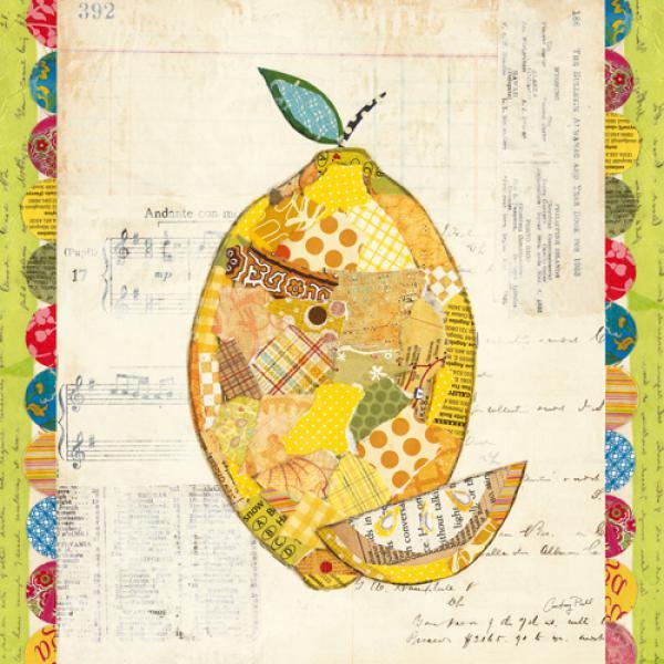 Fruit Collage II Lemon