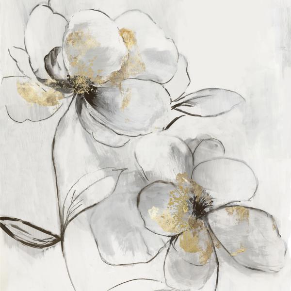 Silver Florals II