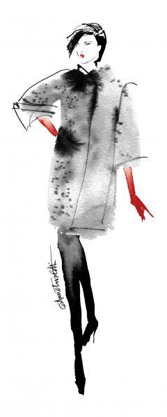 Modern Fashion II Red Crop