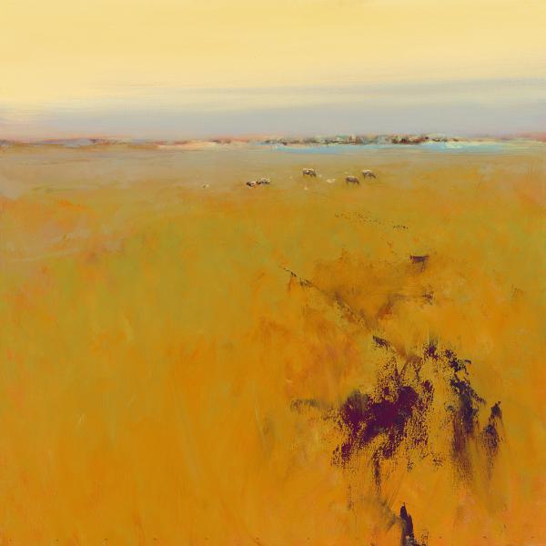 Meadow in warm Colors